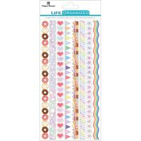 "Paper House Life Organized Rice Paper Border Stickers 8""X4"" NOTM530160"