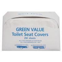 GEN Half-Fold Toilet Seat Covers, White, 14 3/4 x 16 1/2, 5000/Carton TEHGVTSC5000