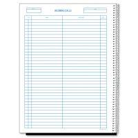 Rediform Wirebound Call Register, 8 1/2 x 11, 3, 700 Forms/Book RED50111