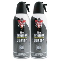 Dust-Off Disposable Compressed Air Duster, 10 oz Cans, 2/Pack FALDSXLPW