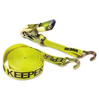 Keeper Ratchet Tie-Down Strap, 2in x 27ft, 10000lb Cap, Double-J Hook Ends KPR04622