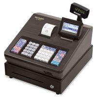 Sharp XE Series Electronic Cash Register, Thermal Printer, 2500 Lookup, 25 Clerks, LCD SHRXEA207