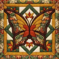 Fall Butterfly Quilt Magic Kit NOTM350365