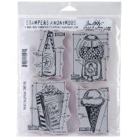 "Tim Holtz Cling Rubber Stamp Set 7""X8.5"" NOTM371587"