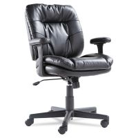 OIF Executive Swivel/Tilt Chair, Fixed T-Bar Arms, Black OIFST4819