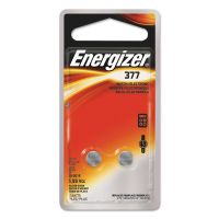 Energizer Watch/Electronic/Specialty Battery, 377, 1.5V, 2/Pack EVE377BPZ2