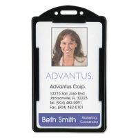 Advantus Vertical ID Card Holders, 2 1/8 x 3 3/8, Black, 25 per Pack AVT75657