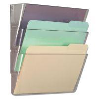 Universal 3 Pocket Wall File Starter Set, Letter, Clear UNV53682