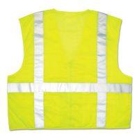 MCR Safety Luminator Safety Vest, Lime Green w/Stripe, X-Large CRWCL2LCXL