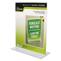 NuDell Clear Plastic Sign Holder, Stand-Up, 8 1/2 x 11 NUD38020Z