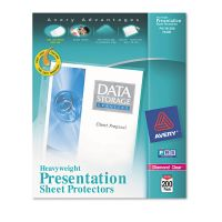 Avery Top-Load Poly Sheet Protectors, Letter, Heavy Gauge, Diamond Clear, 200/Box AVE74400