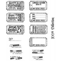"Tim Holtz Cling Rubber Stamp Set 7""X8.5"" NOTM461184"