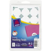 """Avery Printable Mailing Seals, 1"""" dia., White, 600/Pack AVE05247"""