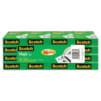 """Scotch Magic Tape Value Pack, 3/4"""" x 1000"""", 1"""" Core, Clear, 16/Pack MMM810K16"""
