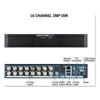 Night Owl 16 Channel Extreme HD 3MP DVR, 1080p Resolution NGTDVRX316