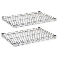 Alera Industrial Wire Shelving Extra Wire Shelves, 24w x 18d, Silver, 2 Shelves/Carton ALESW582418SR
