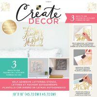 "DCWV Create Decor Self-Adhesive Lettering & Stencil 18""X18"" NOTM539824"
