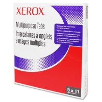 Xerox Single Reverse Collated Index Dividers, 5-Tab, White Tab, Letter, 50 Sets XER3R04415
