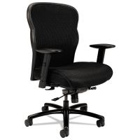 HON Wave Big & Tall Mesh Chair, Mesh Back/Fabric Seat, Black BSXVL705VM10