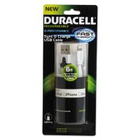 Duracell Sync And Charge Cable, Apple Lightning, 6ft ECADU1311