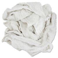 HOSPECO Woven Terry Rags, White, 15 x 17, 25 lb Box, 170/Carton HOS53725