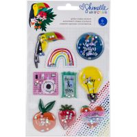 Shimelle Box Of Crayons Shaker Stickers 9/Pkg NOTM368294
