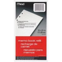 Mead Memo Book Refill Pages MEA46534