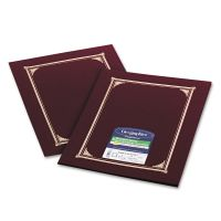 Geographics Certificate/Document Cover, 12 1/2 x 9 3/4, Burgundy, 6/Pack GEO45333