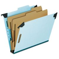 Pendaflex Pressboard Hanging Classi-Folder, 2 Divider/6-Sections, Letter, 2/5 Tab, Blue PFX59252