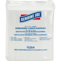 Genuine Joe 1-ply Embossed Lunch Napkins GJO11254PK