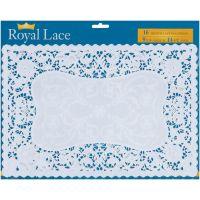 """French Lace Paper Doilies 9.75""""X14.5"""" Rectangle 16/Pkg"""" NOTM156814"""