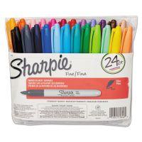 Sharpie Fine Point Permanent Marker, Assorted, 24/Set SAN75846