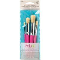 Fabric Creations Tools - Fabric Stencil Brush Set 4/Pkg NOTM466908