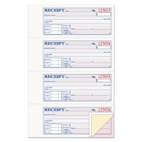 Adams Receipt Book, 7 5/8 x 11, Three-Part Carbonless, 100 Forms ABFTC1182