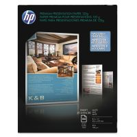 HP Premium Inkjet Matte Presentation Paper, 8-1/2 x 11, White, 100 Sheets/Pack HEWD0Z55A