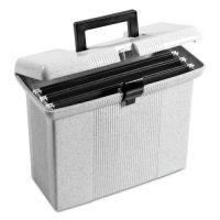 Pendaflex Portable File Boxes, Letter, Plastic, 14-7/8 x 6-1/2 x 11-7/8, Granite PFX41737