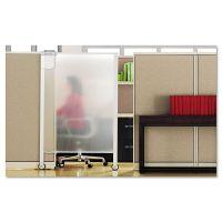 Quartet Premium Workstation Privacy Screen, 38w x 64d, Translucent Clear/Silver QRTWPS2000