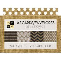 "DCWV Boxed A2 Cards W/Envelopes (4.375""X5.75"") NOTM539755"