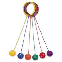Champion Sports Swing Ball Set, Plastic, Assorted Colors, 6/Set CSISBSET