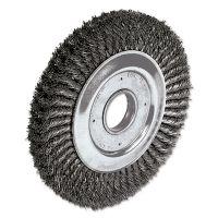 """Weiler Dualife Twist-Knot Wire Wheel, 10"""" dia, 1 3/4"""" Trim, .016 Wire, 2"""" Arbor WEI09480"""
