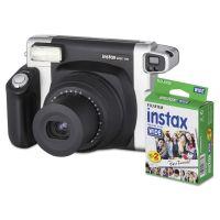 Fujifilm Instax Wide 300 Camera Bundle, 16 MP, Auto Focus, Black FUJ600015500
