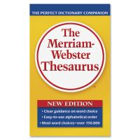 Merriam Webster The Merriam-Webster Thesaurus, Dictionary Companion, Paperback, 800 Pages MER850
