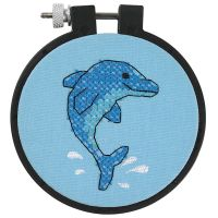Dimensions Learn-A-Craft Dolphin Delight Stamped Cross Stitch Kit NOTM237937