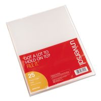 Universal Project Folders, Jacket, Poly, Letter, Clear, 25/Pack UNV81525