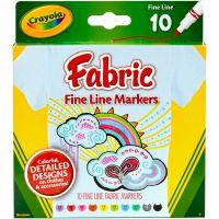 Crayola Fine Line Fabric Markers NOTM156036