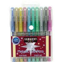 Sargent Art Metallic Gel Pen Set 10/Pkg NOTM444415