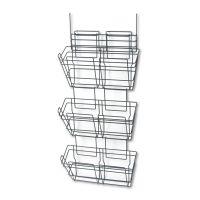 Safco Panelmate Triple-File Basket Organizer, 15 1/2 x 29 1/2, Charcoal Gray SAF4151CH
