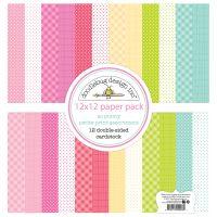 "Doodlebug Petite Prints Double-Sided Cardstock 12""X12"" 12/Pk NOTM336965"