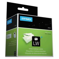 DYMO LabelWriter Address Labels, 1 1/8 x 3 1/2, White, 350 Labels/Roll, 2 Rolls/Pack DYM30252