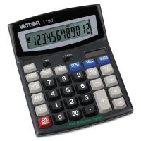 Victor 1190 Executive Desktop Calculator, 12-Digit LCD VCT1190